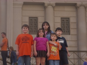 The Juliano brood outside the musuem
