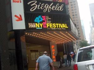 Me on the way to the Ziegfeld