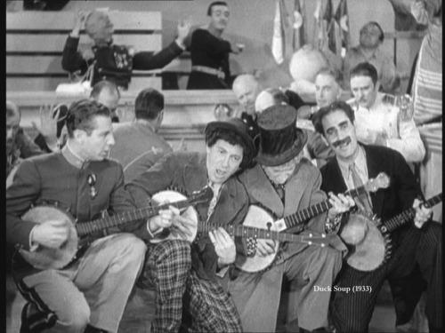 Duelling banjos!