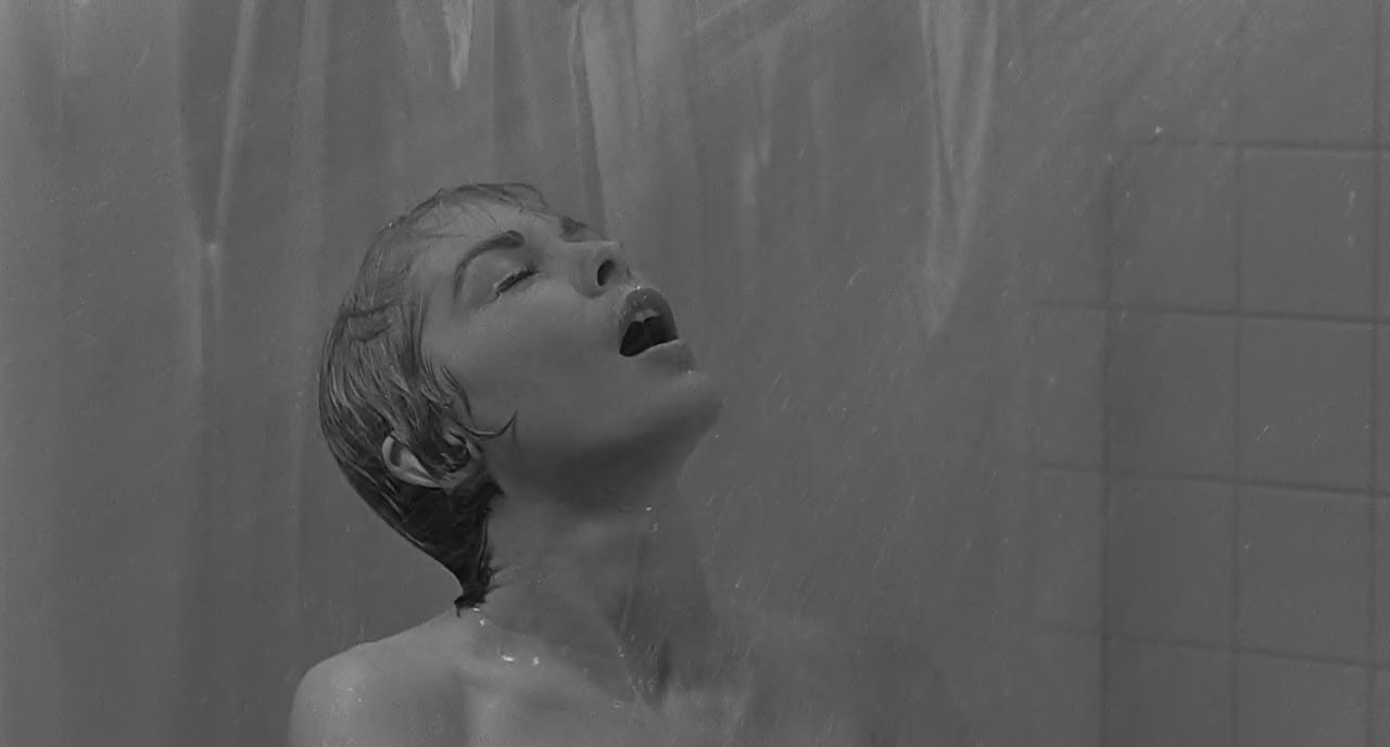the horrifying shower scene in alfred hitchcocks Psycho (1960) dir alfred hitchcock the famous shower scene this scene is hitchcock's most famous 45 seconds, and as incredible as it might seem, it took seven days to film it.
