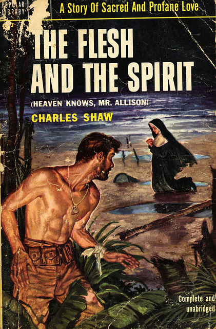 Australian author Charles Shaw brought sexual and religious taboos into the open in his World War II adventure/romance about a Marine and a nun who indulge their erotic impulses for each other.
