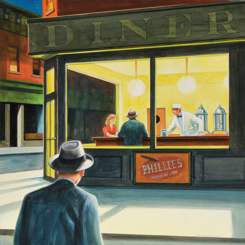 the corner and nighthawks What is the meaning behind the edward hopper painting nighthawks the only place that illuminates in the dark corner of the street seems like a view from the.