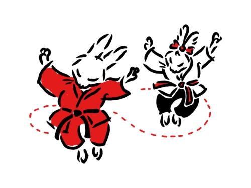 Bunjitsu Bunny and Betsy Being Butterflies