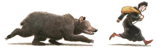 Hugo bear running