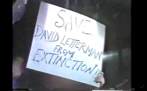 Letterman - sign held on last morning show